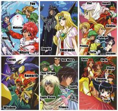 Magic Knight Rayearth Disney Now, Magic Knight Rayearth, Haruhi Suzumiya, Card Captor, Cardcaptor Sakura, Black And White Pictures, Magical Girl, Shoujo, Anime Manga