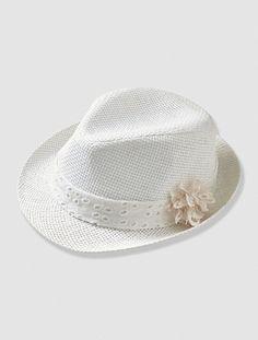b56061c4804d Chapeau de cérémonie bébé fille Blanc - vertbaudet enfant Tenue Bapteme,  Filles Blanches, Vêtements