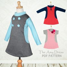 Amy Dress - girls stretch dress pattern | YouCanMakeThis.com