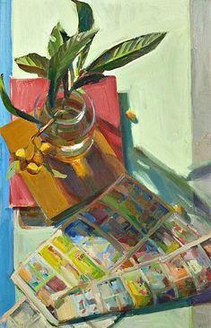 Boyd Gavin, Loquats, oil on canvas, Caldwell Snyder Gallery Pretty Art, Cute Art, Painting Inspiration, Art Inspo, Art Sketches, Art Drawings, Plakat Design, Illustration Art, Illustrations