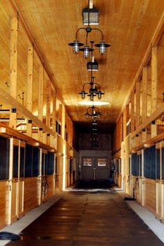 Horse barn... ummm wow! i wish!