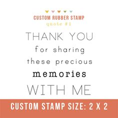 """Photography Stamp- """"thank you for sharing these precious memories with me""""  Perfect for client packages or cute tags!"""