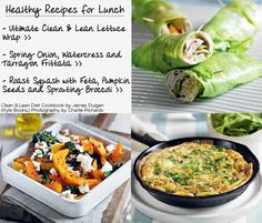 James Duigan 'Clean & Lean Diet Cookbook' : Healthy Lunch Recipes
