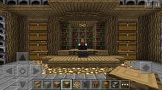 This is a minecraft PE storage room.