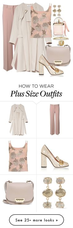 """""""Give It Away"""" by chelsofly on Polyvore featuring Alberto Biani, ZAC Zac Posen, Gucci, Chloé, Elvi, Melissa Joy Manning and plus size clothing"""