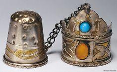 18th Century Turkoman thimble and ring Saudi Aramco World : Enlarged Image