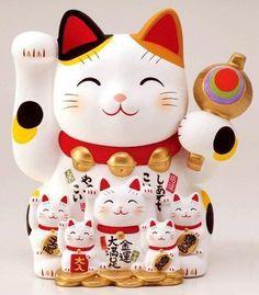 Chachki's Maneki Neko, Neko Cat, Japanese Cat, Gatos Cats, Kokeshi Dolls, Lucky Charm, I Love Cats, Clipart, Cats And Kittens