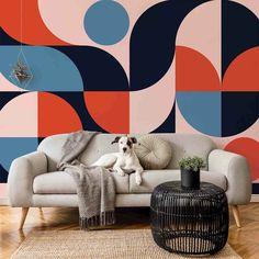 If you've been longing to make a statement in your home, you will be pleased to know that there are loads of gorgeous wall mural ideas to choose from....   Vintage Iridescent Mural #WallMurals #WallDecor #Murals #WallMuralIdeas #WallMural #Mural Geometric Wall, Geometric Designs, Bedroom Murals, Wall Murals, The Bear Family, Pastel Designs, Retro Color, Retro Style, Self Adhesive Wallpaper