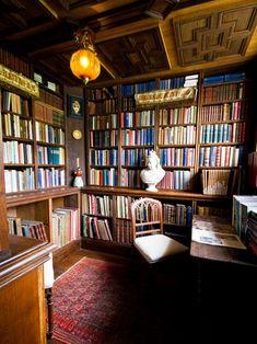 The library, Athelhampton House, nr. Dorcester, Dorset, UK.