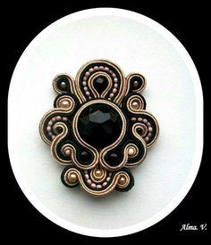 Soutache Bracelet, Soutache Pendant, Soutache Jewelry, Beaded Jewelry, Beaded Necklace, Handmade Wire Jewelry, Brooches Handmade, Bead Embroidery Jewelry, Beaded Embroidery