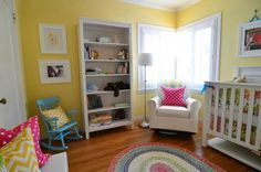 Yellow, Pink, and Blue, Girls Room, Girl's Nursery, Bright Kid's ...