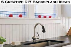 6 Creative DIY Backsplash Ideas, I like this as an alternative to tile.