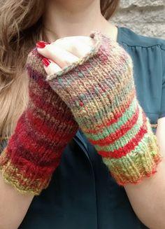 Fingerless mittens // fingerless gloves // Noro by blueberryfields