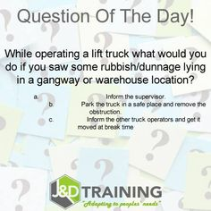 Forklift question of the day 24 from http://ift.tt/1HvuLik #forklift #training #safety #jobsearch