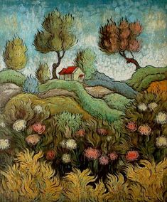 Bushes and Bracken, oil and tempera on panel, Mark Drake Briscoe, A bit magical. Art And Illustration, Landscape Art, Landscape Paintings, Landscapes, Flower Landscape, Painting Inspiration, Art Inspo, Naive Art, Art For Art Sake