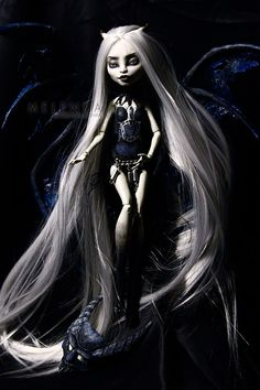 Gargoyle by melenka on DeviantArt Custom Monster High Dolls, Monster Dolls, Monster High Repaint, Custom Dolls, Ooak Dolls, Art Dolls, Crazy Toys, Gothic Dolls, Creepy Dolls