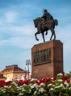 King Tomislav, Zagreb - Croatia Zagreb Croatia, Statue Of Liberty, King, Travel, Croatia, Statue Of Liberty Facts, Viajes, Statue Of Libery, Destinations