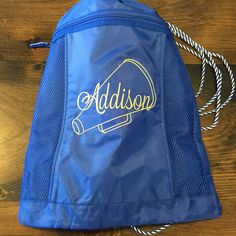The Thirty-One Cinch Sac is available in solid colors...have it embroidered to match your team colors!!