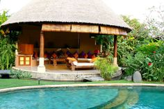 What a great pool-side cabana. This is Villa Plaza Asri - a Balinese villa.