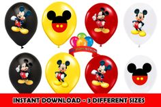 Mickey Birthday Balloon and party favors stickers $2.99