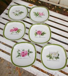 Hutschenreuther Germany Set 6  Plates P J by prissyantiques