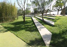 景观草坡及坐阶