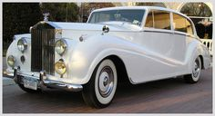 Dream to pull away in antique Rolls Royce with white wall tires<3