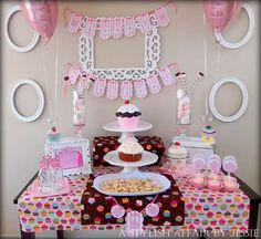Cupcake Inspired Dessert Table | CatchMyParty.com
