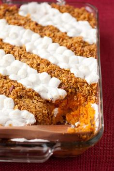 Browned Butter Sweet Potato Casserole - I make this every year now it's a Thanksgiving must! SO good!