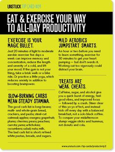 Unstuck Tip Card #19: 11 ways to stay energized all day