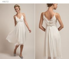 What a great engagement/rehearsal dinner dress.  Saja, of course.