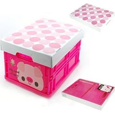 Pink Pig Baby Nursery Room Toy Storage Box Tidy | eBay