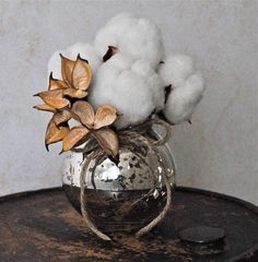 decorating with cotton bolls | Cotton decor inspiration (thanks, @Dawn Cameron-Hollyer Cameron-Hollyer McKenzie!)