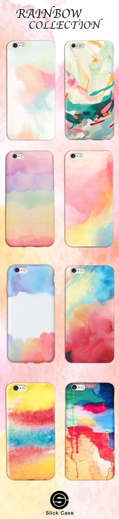 Rainbow Color iPhone Cases! Click on the link here to check all these Rainbow-Ready designs out: https://shop.slickcaseofficial.com/collections/iphone-case-collection-paint