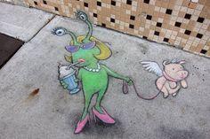 The 3D Chalk Art Adventures of Sluggo by David Zinn