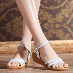 Boho Ladies Flat Low Heels Sandals Gladiator Shoes Zipper Ankle Strap Beach N-18
