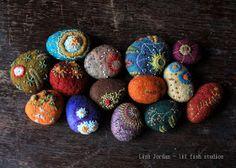lil fish studios: work continues - stitching stones
