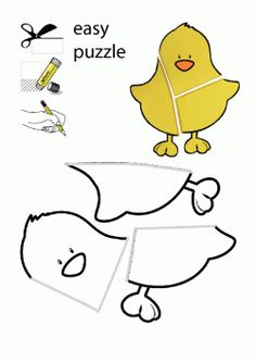 Civciv Kalıbı. Chick printables. Molde del pollito. цыпленок.