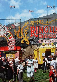 1950's Ringling Bros. Circus Tent..