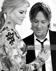 Actor Nicole Kidman (L) and singer Keith Urban attend the 52nd Academy Of Country Music Awards at Toshiba Plaza on April 2, 2017 in Las Vegas, Nevada.