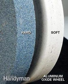 Knowing how to use different grinding wheels is a necessary part of sharpening a chisel.