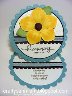 Round Easel Card