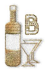 Oh my Alfabetos!: Alfabeto chispeante de martini.