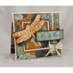 Serendipity Stamps Floral Dragonfly Stamp & Die Set