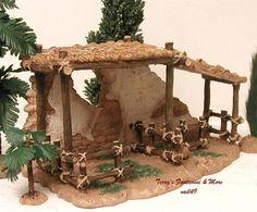 """Natividad Fontanini Italia 5"""" animal Corral pueblo Bldg 55575 Nuevo En Caja"""