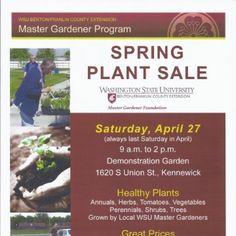 Kennewick, WA Healthy plants for sale at great prices with free gardening advice from Master Gardeners.