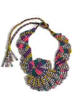 Caribbean Flight macrame necklace
