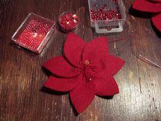 Christmas tutorial advent - Poinsettia - Handmade Cuddles