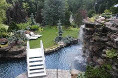 Artistic, Creative, Tropical, Natural and Exotic Custom Water Features, Swimming Pools, Garden Ponds, and Backyard Landscaping | Hickory Hollow Landscapers