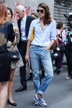 look com calça jeans boyfriend